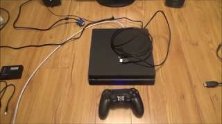 How to Connect the PS4 Slim to a VGA Computer Monitor or VGA TV