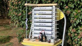 Mon Générateur de Marx 320kV. Avec condensateurs homemade!