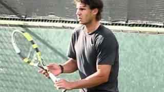 Rafa Nadal Practice At Indian Wells