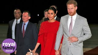 Prince Harry and Meghan touch down in Casablanca on Morocco visit