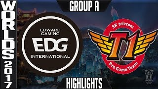 EDG vs SKT Highlights S7 World Championship 2017 Group A Day 2 Game 6 - Edward Gaming vs SK Telecom