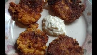 Southern Fried Fish Cakes..Plus A Short Visit From Nuts :)