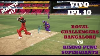 VIVO IPL 10 : RCB VS RPS : MATCH 17