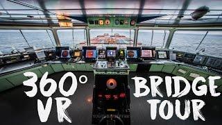 360 Video - Bridge of the 323m Mega Ship (LG 360 VR CAM)