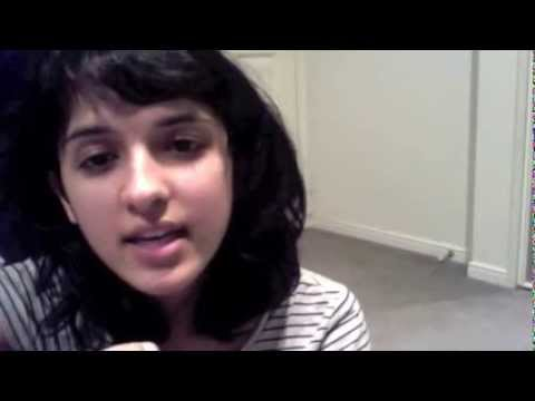 cute indian girl singing nice