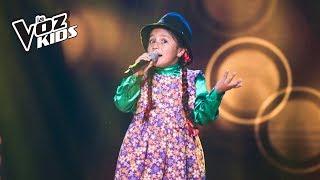 La Carranguerita canta La Gallina Mellicera - Audiciones a ciegas   La Voz Kids Colombia 2018