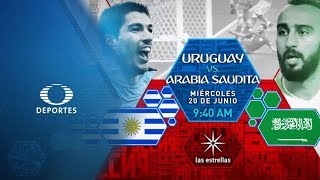 Uruguay vs Arabia Saudita | Este miércoles #ConLasEstrellas