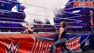 WRESTLEMANIA 32: Brock Lesnar VS Dean Ambrose - (Street Fight Match) - Simulacion Gameplay