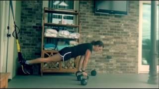 TRXFreestyleFriday with Grey Rank Trainer Emily Frischhertz - TRX Crunch to kettlebell push up