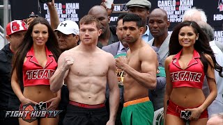 Canelo Alvarez vs. Amir Khan Complete Weigh In & Face Off video