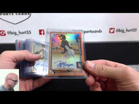 Recap For 2015 Bowman Baseball 12 Box Hobby Case Break Live Team Auction