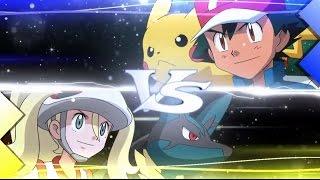 ASH VS KORRINA (Mega Lucario Vs Pikachu) --- Pokemon XY EP24