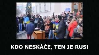 """Kiev """"Euromajdan"""" ve škole"""