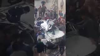 حادث سير في نفق الامام العسكرين في النجف الاشرف - شوفو الغيرة عند عراقين
