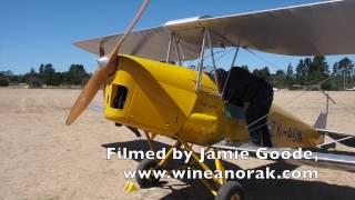 Biplane flight over Bridge Pa Triangle vineyards