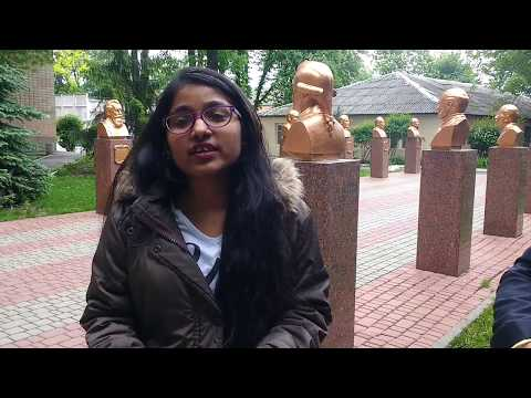 Interview with indian medical girl student of Ukranian Medical Stomatological Academy Poltava.
