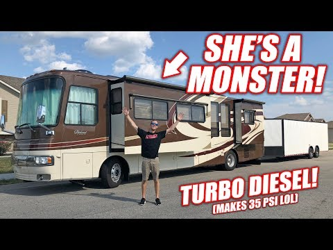 We Bought a GIANT RV Her Name is Monica She Loves Boost Full Tour