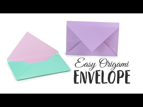 Super Easy Origami Envelope Tutorial 💌 DIY 💌 Paper Kawaii