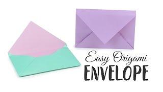 Super Easy Origami Envelope Tutorial - DIY - Paper Kawaii