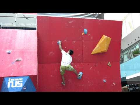 2012 Boulderactive - Men's Novice Qualification Problem 5 - Fong Yat Nam