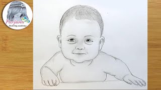 How to draw baby face for Beginners/ EASY WAY TO DRAW A REALISTIC BABY FACE