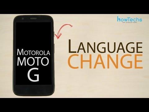 Motorola Moto G - How to change language