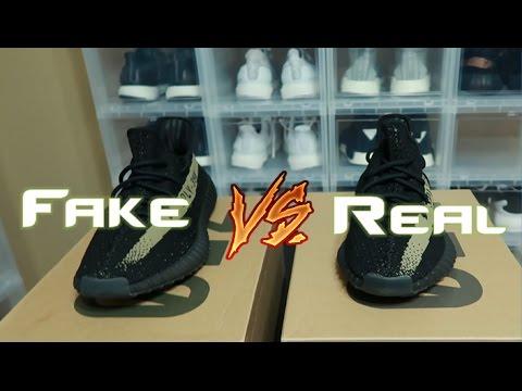 Yeezy 350 V2 Green Fake Vs Real Comparison Legit Check