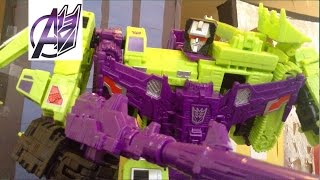 Transformers Stop Motion [Combiner Wars]Pt2 Devastator vs Defensor Stop Motion