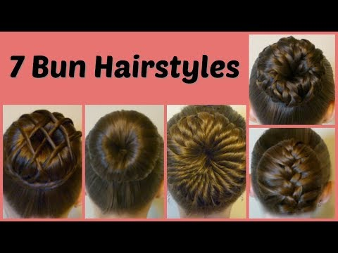 Xxx Mp4 7 Ways To Make A Bun Using A Hair Donut Compilation 1 Week Of Bun Hairstyles 3gp Sex