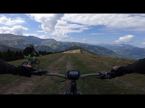 Des sentiers au dessus de Megève lac de joux