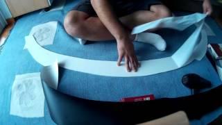 Making custom front splitter from PVC