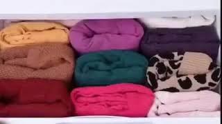 طريقة ترتيب الملابس  بشكل جميل وعملي