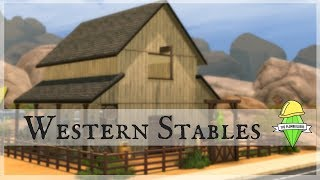 Western Stables - The Plumbuilders Collab | The Sims 4 speed build