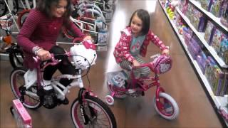 2 Hello Kitty Bikes and Fun in The Toy Isle of Walmart