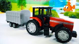Farm Trucks - TAYO TRUCK FIXERS & Tractors for Kids - Toy Cars videos for kids