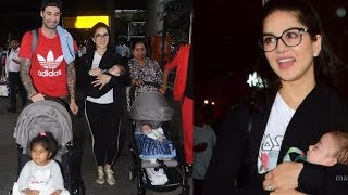 Sunny Leone brings her newly born twin boys to home in india |Asher and Noah