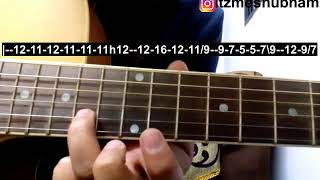 Rabba Rabba (Single String) Guitar Tabs Tutorial | Heropanti | Shubham Joshi