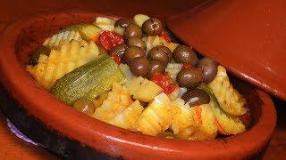 الطاجين اليومي بالخضر  بطريقتي مع أسرار لذته لذييييييذ