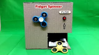 How to Make Electric Fidget Spinner Vending Machine - Battery Powered