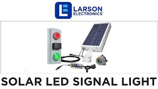 24W LED Signal Stack Light - Red Green Traffic Light - IP68 - Explosion Proof Remote - Solar Powered