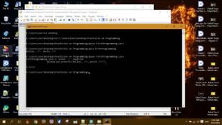 Programming -  lesson 1 (easy way to run a programm and how to compile on comand prompt)