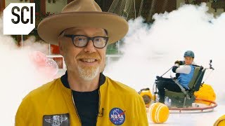Testing the Fire Extinguisher Scene from the Movie Gravity | MythBusters Jr.