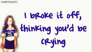 Want U Back (US Version) - Cher Lloyd - Lyrics On Screen