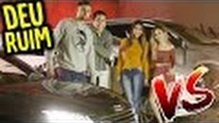 MENINAS vs MENINOS : DESAFIO DO CARRO !!! (ELA SE MACHUCOU!)