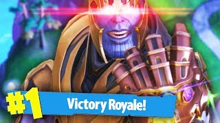 WINNING AS THANOS   Fortnite Battle Royale (Thanos Mode)