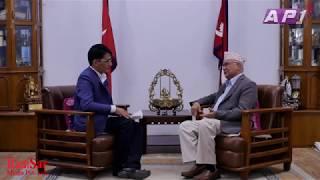 देउवालाई ओलीको सुझाव- गीत गाउन नेपाल आइडलमा जानुस्  । KP Oli on Tamasoma Jotirgamaya