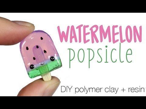 Xxx Mp4 How To DIY Watermelon Popsicle Polymer ClayResin Tutorial 3gp Sex