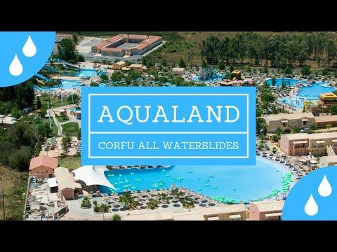 Aqualand Corfu (GR) All Waterslides ONRIDE POV [1080p] [FHD]