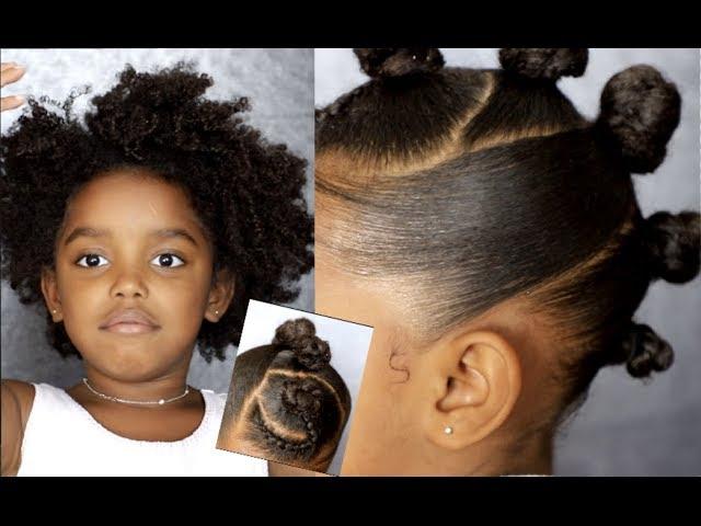 Bantu Mohawk Tutorial for Curly Hair Kids   Yoshidoll