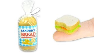 Miniature edible Sandwich Bread and Sandwich DIY - Food - YolandaMeow♡